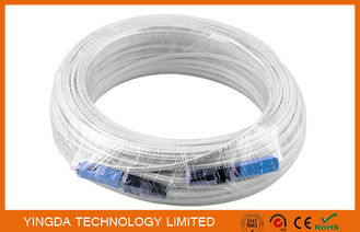 China 100 Meters Fiber Optic Patch Cord SC / SC SM SX Patch Cord FTTH Drop Cable supplier