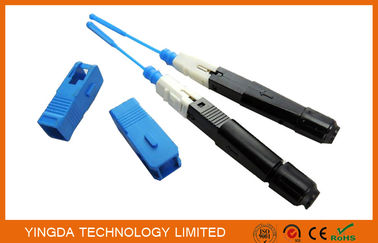 China FTTH Mechanical SC / UPC Fiber Optic Fast Connector On Site Single Mode factory