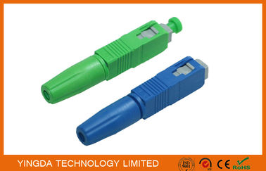 China Green / Blue SC UPC APC Field Installable Connector FTTH Use factory