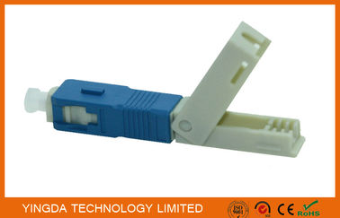 China FTTH Field Mechanical Connector SC / UPC SM SX SC Fast Fiber Optic Connectors supplier