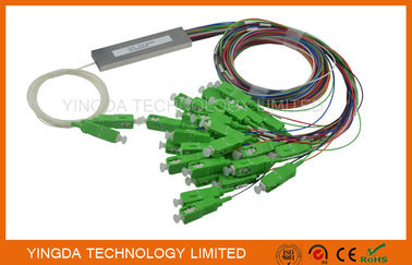 China 2x32 Micro Fiber Optic PLC Splitter 900um SC / APC Connector LSZH G657A 1M supplier
