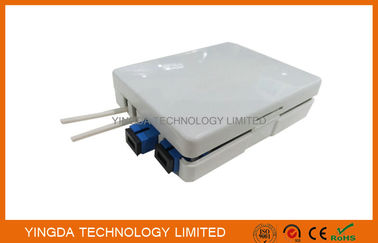 China 2 Ports SC Adaptor Fiber Optic Termination Box, 2 Fibers FTTH Termination Box Wall Outlet supplier