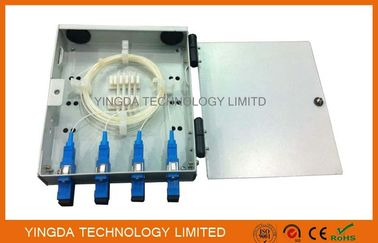 China FTTH Wall Mounted Fiber Optic Termination Box, 4 Fibers Fiber Splice Box SC Adaptor with Pigtails supplier