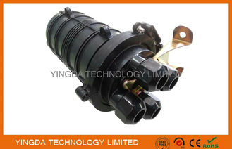 China FTTH Fiber Optic Cable Joint Closure 4 Ports 24 Cores For Underground / Pipeline supplier