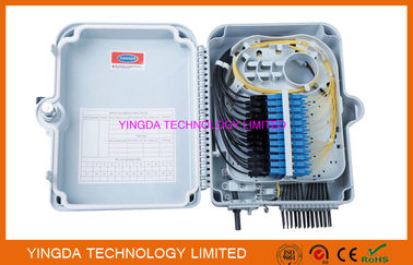 China 1X24 Splitter Distribution Box 24 Outputs Fiber Optic Termination Box FTTH Network ABS PC factory