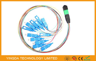 SC Hydra 12 Strand Fiber Cable Assembly / MTP MPO Patch Cord For FTTX
