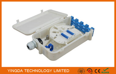 China Wall Mount ABS Plastic White FTTH Fiber Optic Termination Box 8 Ports SC Splice Box factory