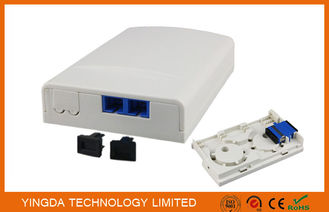 China Duplex SC/APC Adapter FTTH Socket Panel Wall Outlet Box Plastic ABS Terminal Box factory
