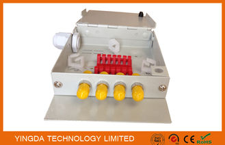 China Indoor 4 Port FTTH Fiber Termination Box, 4 Cores ST Fiber Optic Splice Box Cold Rolled Steel supplier
