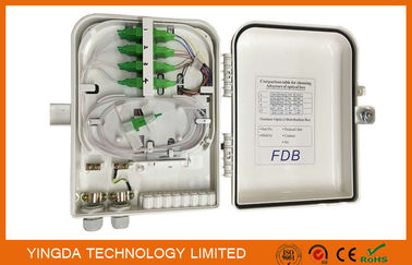 China Outdoor 16 Core Fiber Optic Termination Box With SC/APC Adapters supplier