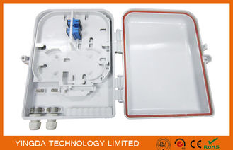 China Outdoor iIP68 16 Ports Fiber Optic Cable PLC Splitter DistributionTermination Box White Plastic supplier