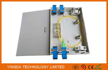China Wall Mount FTTH Fiber Optic Termination Box , Indoor Plastic ABS PC 2 Ports Fiber Optic Box supplier