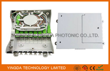China Fiber Optic Termination Box With Splitter 1X8 PLC And 8 Coupler SC/APC Auto Shutter Type factory