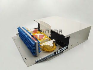 China Dustproof Fiber Optic Patch Panel ODF SC Optical Distribution Frame Metal Slide Out Type factory