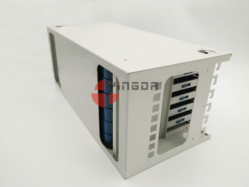 China Fiber Management Unit for 19 Inch 72 Port ODF 4U Metal White 1.2mm With Trays factory