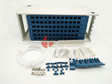 China 72 Port Fiber Optic ODF Optical fiber patch panel , Rack Mount Fiber Distribution Unit SC factory