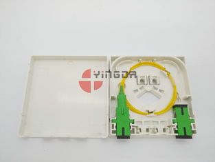 China  2 Port Fiber Optic Termination Box With SC/APC Pigtails & Adapters Anti Fire Anti-UV factory