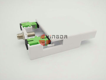 China 2 Port Socket Panel for SC Fiber Adapter Fiber Optic Terminal Box White ABS FTTH supplier
