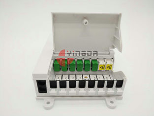 China NAP Indoor Fiber Optic Termination Box with 1x8 Splitter White FTTH SC/UPC Connectors supplier