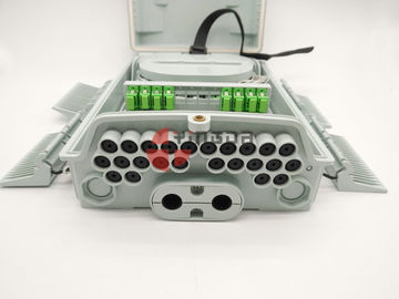 China Pole & Wall Mounted Fiber Optic Distribution Box 24 Ports with 1x16 PLC Splitter IP65 supplier