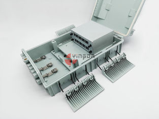 China 16 Outputs Fiber Optic Splitter Box With LGX Module Splitter Outdoor Waterproof factory