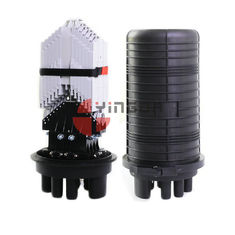 China Vertical Fiber Optic Closure 288 Cores Dome 6 Round Ports For Aerial supplier