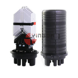 China Vertical Fiber Optic Closure 288 Cores Dome 6 Round Ports For Aerial factory