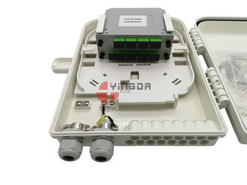 China 260 * 320 * 90 Mm Fiber Optic Splitter Box , ABS IP68 Fiber Optic Termination Box supplier