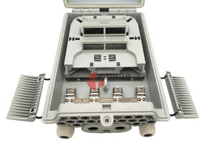 China Outdoor IP65 Pole Mount 1:8 Fiber Optic PLC Splitter Cassette Fusion Distribution Box for FTTH GPON supplier