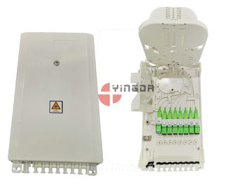 China White IP54 Plastic Mini 1x8 1x4 1x2 Optical Fiber PLC Splitter Distribution Box for FTTH Drop Cable supplier
