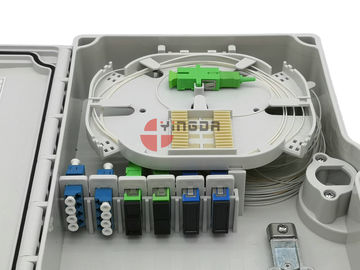 China 24 Cores 3 Ports Fiber Optic Cable Joint Box Enclosure IP65 GP62DW-3 With Splice Tray factory