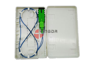 China White FTTH Fiber Optic Termination Distribution Box SC LC ABS Faceplate Durable factory