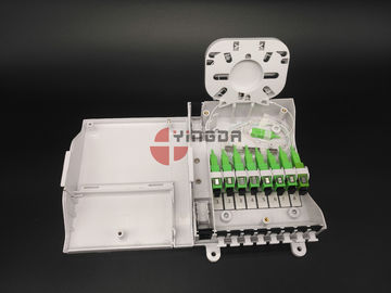 China FTTH CPE Fiber Optic Termination Box With 1/8 Splitter SC G657A2 Corning LSZH factory