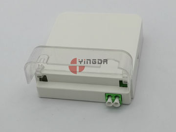 China 2 Port SC LC Fiber Optic Terminal Distribution Box Dustproof Socket Panel Outlet IP54 supplier
