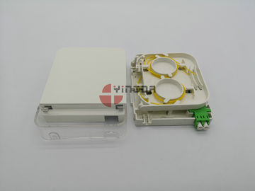 China LC Fiber Optic Junction Box CPE Dustproof Face Plate Wall Outlet IP54 ABS PC factory
