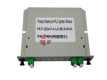 China Plastic 2x4 Fiber PLC Splitter LGX Cassette Modular With LC/APC Duplex Fiber Optic Connector factory