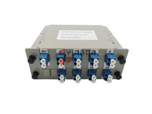 China LC SC ABS Fiber Optic Passive Splitter 16 Port LGX Cassette Module 2X16 Flame Retardant factory