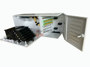 China Durable Fiber Optic Termination Box 48 Port Wall Mount IP30 Protection ISO Approval supplier