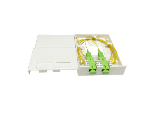 2 Port SC ABS G657B3 LSZH Fiber Optic Termination Box