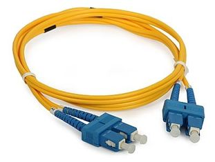 China 3D Passed optical patch cord SC / UPC - SC / UPC single mode fiber jumpers supplier