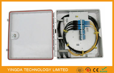 China 24 Core Fiber Optic Distribution Box Cabinet , 12 Port Outdoor Cable Termination Box factory