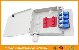 China Small White Fiber Optic Enclosures Wall Mount With FC , SC , ST , LC Adapters supplier