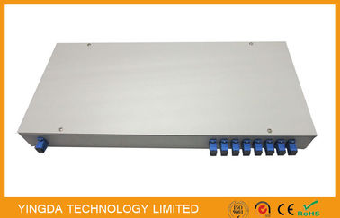 China ODM Fiber Optic PLC Splitter In 19 inch Rack Patch Panel 1u Sc / Apc Terminated Rack Mount supplier