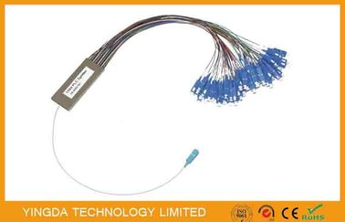 China OEM Fiber Optic PLC Splitter 1x64 1x128  2mm Cassette Type Fc Sc Lc St Connectors supplier