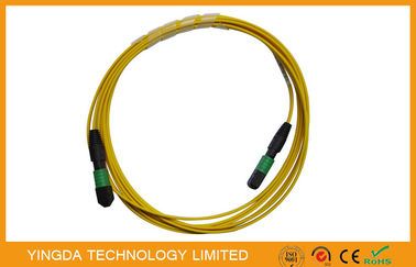 China Single mode 12 Fiber Optic MTP MPO Cable, MPO Patch Cord Truck Cable Jumper factory
