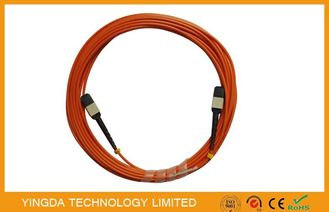 China fiber optic cabling / Mtp Mpo Cable Optical Patch Cord With Test Report supplier