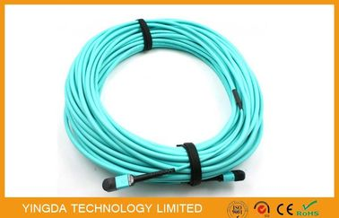 China 12 Fibers OM3 10Gig MTP MPO Cable, Trunk Cable MPO - MPO 12 F.O. OM3 15 Mts supplier