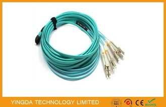 China MPO- 8 LC 3 MTP MPO Cable Patch Cord With QSFP +  SR4 Optical Transceivers factory