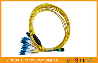 China Multi - Fiber Bundle MTP MPO Cable , MPO - LC Fan Out Patch Cord 2mm factory