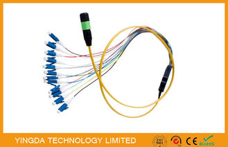 China Simplex Fiber Cable , MPO / MTP - LC Harness Patch Cord Cable 0.9mm SM supplier